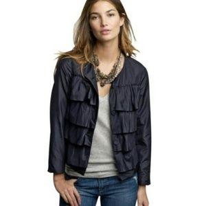 Cascade Ruffle J Crew Silk Jacket NWT